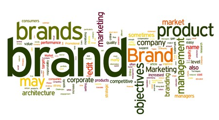 branding: Words cloud with brand and branding related words