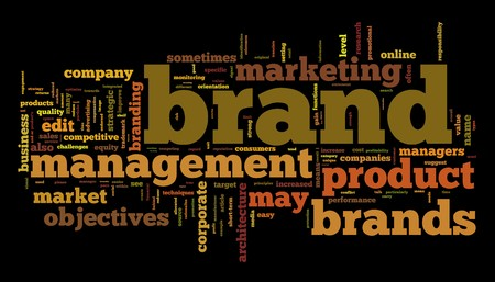 skill: Words cloud with brand management related words