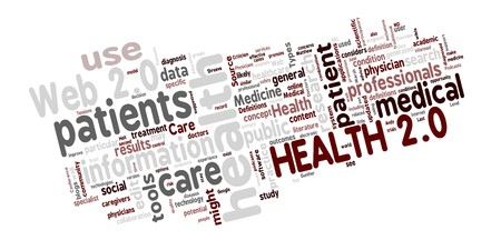 Word cloud of Health 2.0 related medical and healthcare words Stock Vector - 8252917
