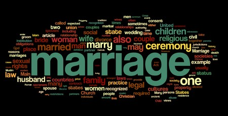 tagcloud: Collection of marriage related words for design projects