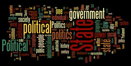 Collection of politics related words for design projects Stock Vector - 8252877