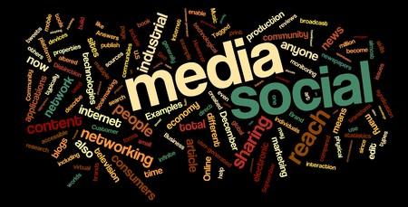 social networking: Raccolta di media sociali e networking relative parole per progetti di design.