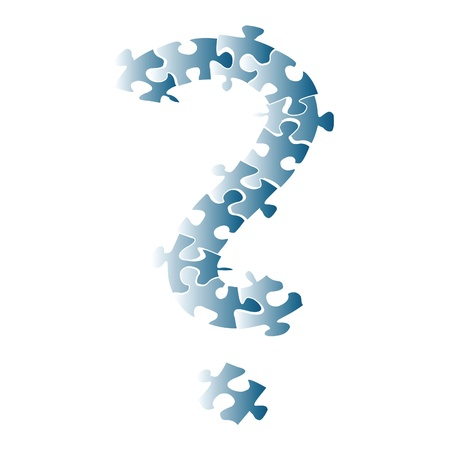 Question mark formed with puzzle pieces Stock Photo - 8519931