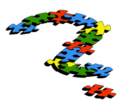 Question mark formed with puzzle pieces Stock Photo - 8519935