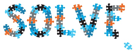 A word SOLVE formed with puzzle pieces Stock Photo - 8519898