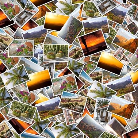 kanarienvogel: Hintergrund-Collage von Gran Canaria, Kanarische Inseln-Fotos
