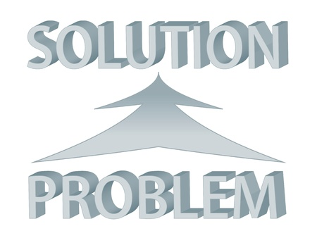 Diagram with words problem and solution, depicting problem solving Stock Vector - 9854109