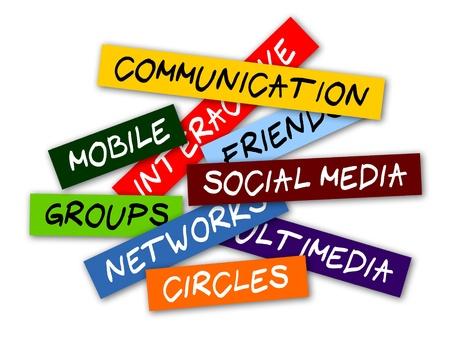 onderzoek: Acht manieren om sociale media netwerken te gebruiken Stock Illustratie