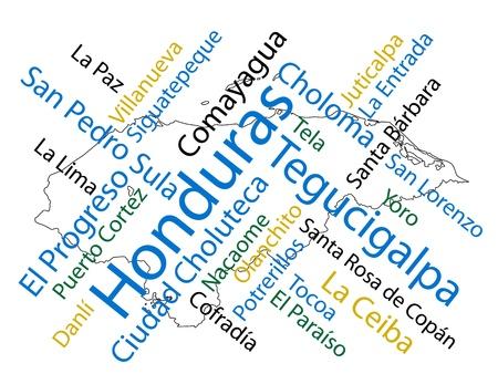 メトロポリス: 大都市でホンジュラス マップと言葉の雲