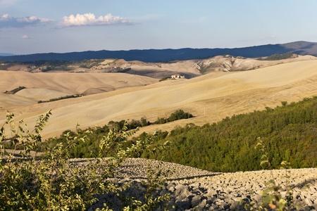 Landscape of Crete Senesi in Tuscany, Italy photo