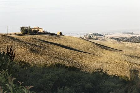 Clay hills in Crete Senesi, Siena, Tuscany, Italy photo