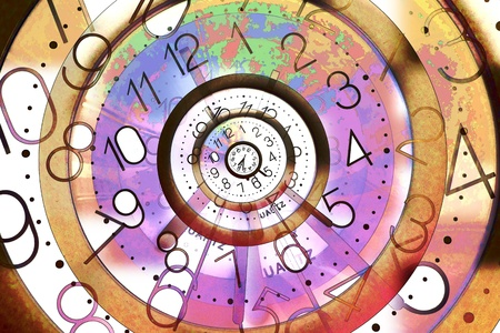 temporal: Digital illustration of the eternal time concept Stock Photo