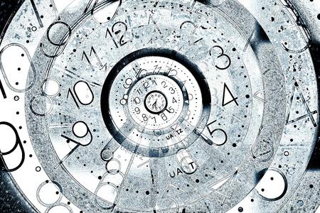 onbepaalde: Digitale afbeelding van de verdwijnende tijd begrip Stockfoto