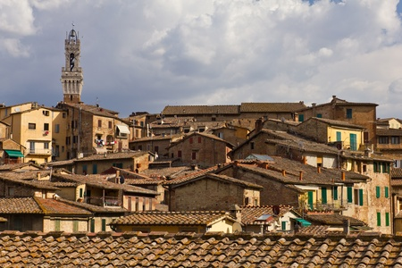 Rooftops of Roman houses in Siena, Tuscany, Italy Stock Photo - 12873509
