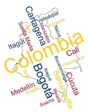 メトロポリス: 大都市のコロンビア マップと単語雲