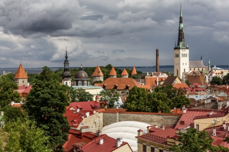 View over the Old Town of Tallinn, capital of Estonia photo
