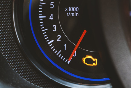 Engine light show in dashboard,engine have some problem Reklamní fotografie