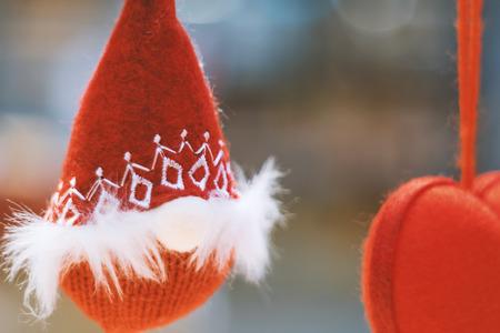 Morbido incentrato sulla clausola Santa Gli accessori per le feste di Natale si preparano per il Natale e il felice anno nuovo Archivio Fotografico