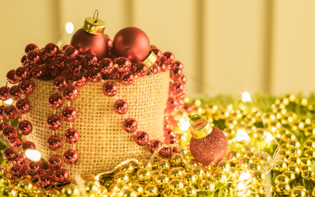 Christmas and happy new year decoration ,celebration theme happiness party