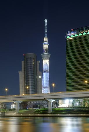 Tokyo sky tree in night scene