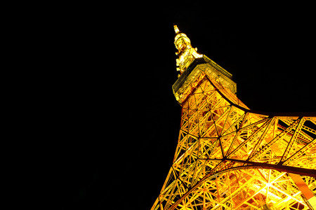 Tokyo tower,View  from below.The landmark of Tokyo,Japan Redactioneel