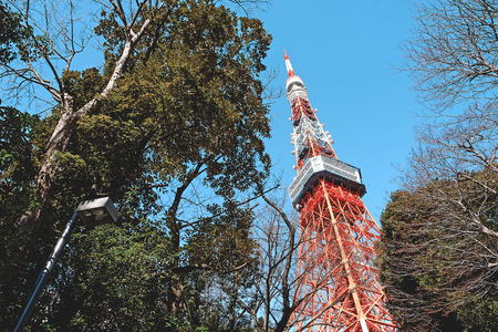 Tokyo tower,View  from below.The landmark of Tokyo,Japan Stockfoto