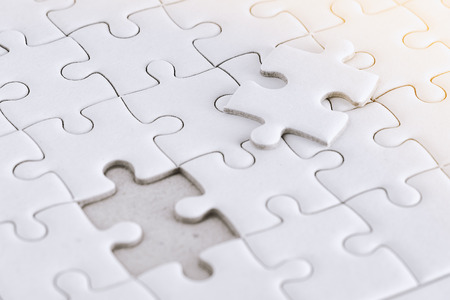 Pure white jigsaw puzzle