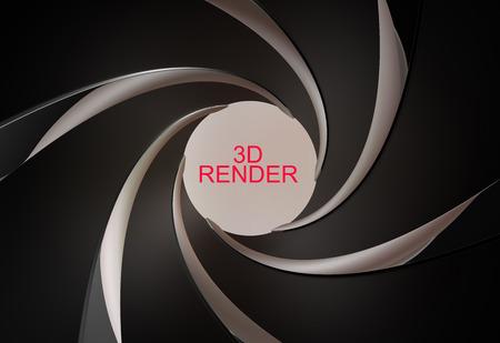 gun barrel: gun, rifled barrel inside 3d render