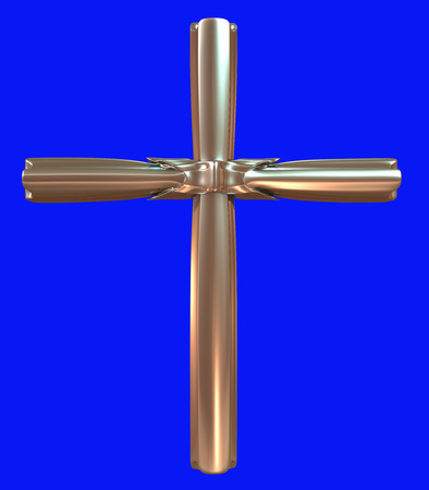Goldkreuz 3D-Modell, hochauflösende 3D-Render Standard-Bild - 39299877