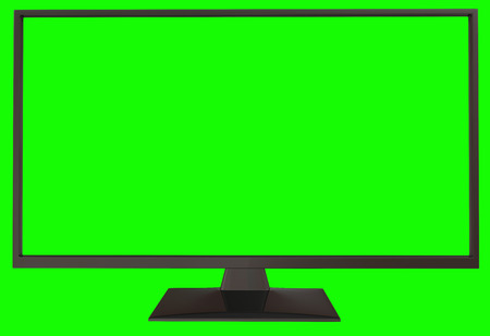 3d TV with green screen 写真素材
