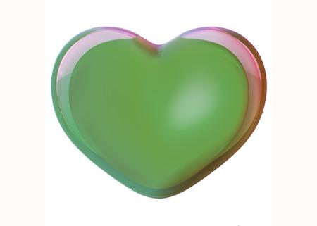 heart 3d: Green heart 3D model3d render