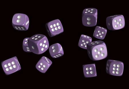 gambling stone: Dice 3D model high resolution 3d render Stock Photo