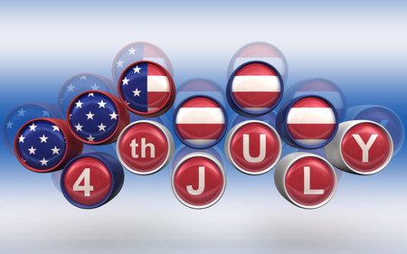 circa: Happy 4th of July Backgroundl high resolution 3d render Stock Photo