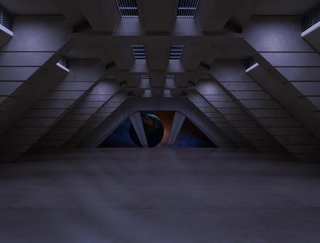 sci fi  corridor 写真素材