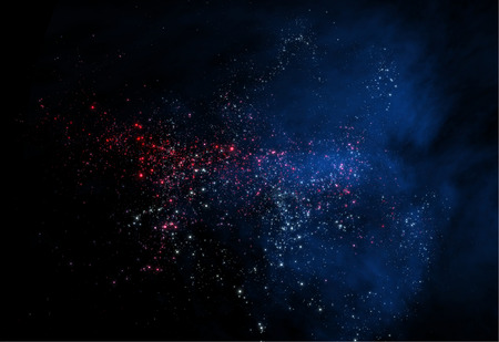 3 d: Star Cluster and Nebula 3 d render Stock Photo