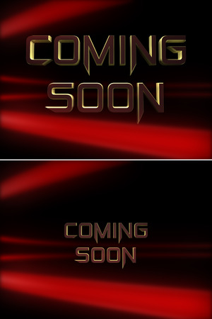 3 d: Coming soon message  3 d render Stock Photo