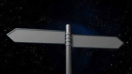 natural phenomenon: Signpost on Space Galaxy Background