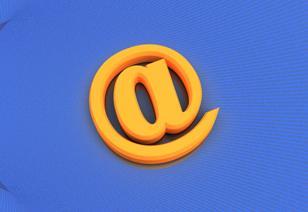 e mail: E mail Symbol  with Binary code background 3d render