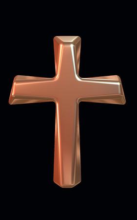 gold cross: Gold Cross 3D render