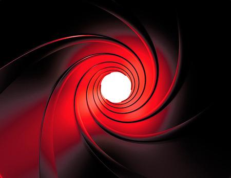 gun barrel Standard-Bild