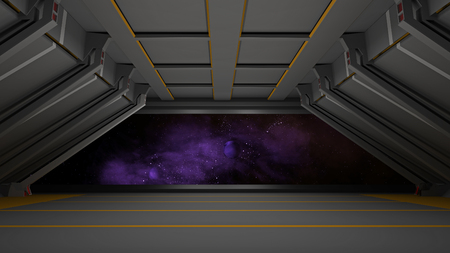 sci fi corridor Stock Photo