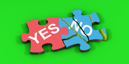 yes no: Yes No Puzzle Stock Photo