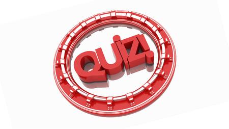 quizzing: Quiz text 3d render