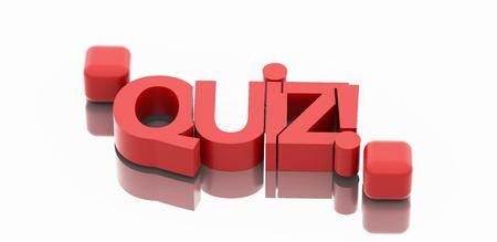 quiz: Quiz text 3d render