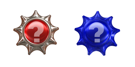 3d: question mark 3d render