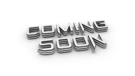 informing: Coming soon message 3 d  Render