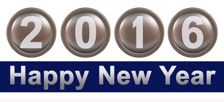 year 3d: Happy New Year 2016 3d
