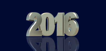 3d: New Year 2016 3d Stock Photo