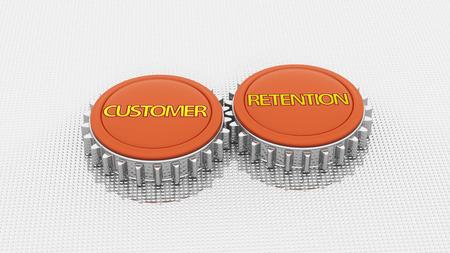 retention: Customer Retention 3d render