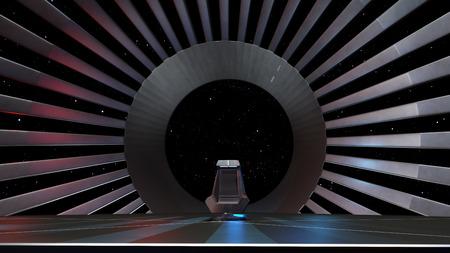 trono: Espacio Trono, listo para un borrador de sus personajes Foto de archivo